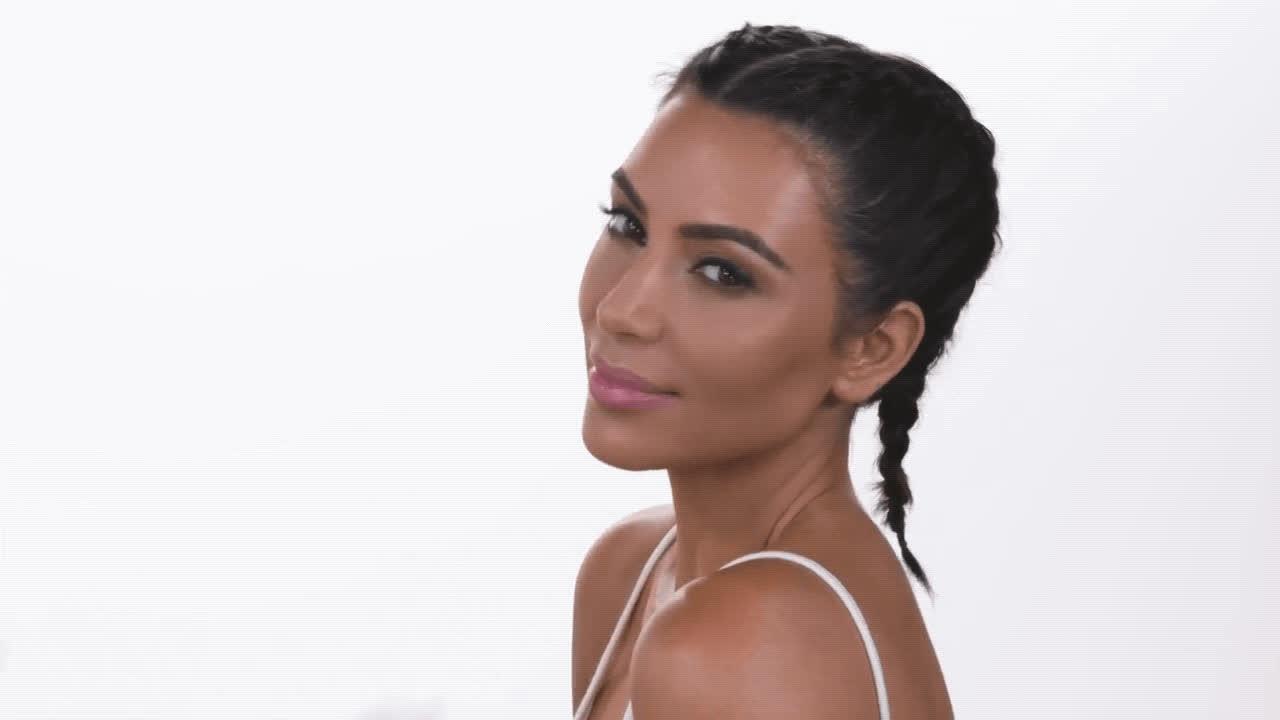Kim Kardashian, flirt, makeup, patrick starrr, Kim Kardashian Makeup Tutorial GIFs