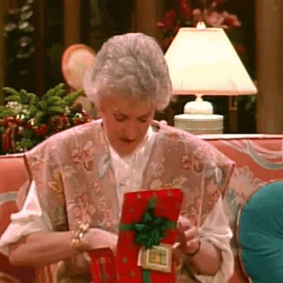 box, christmas, disappointes, eve, gift, happy, merry, open, present, this, unhappy, what's, xmas, Not so happy with my gift GIFs