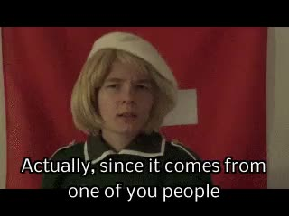Watch this trending GIF on Gfycat. Discover more I don't think so, I'm not sure if you did, aph switzerland, ask, at least kinda, cosplayswitzerlandaskblog, he barely trusts Liechtenstein..., hetalia switzerland, it's not like he trusts many people, this became depressing GIFs on Gfycat