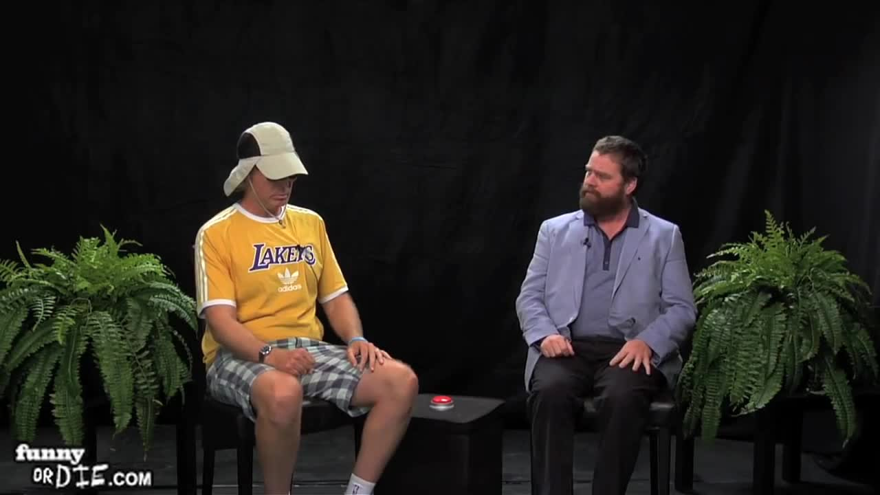 FoD, Will Ferrell Between Two Ferns with Zach Galifianakis, between two ferns, between two ferns with zach galifianakis, fod, funny or die, funnyoooordie, will ferrell, will ferrell between two ferns with zach galifianakis, zach galifianakis, double chair collapse GIFs