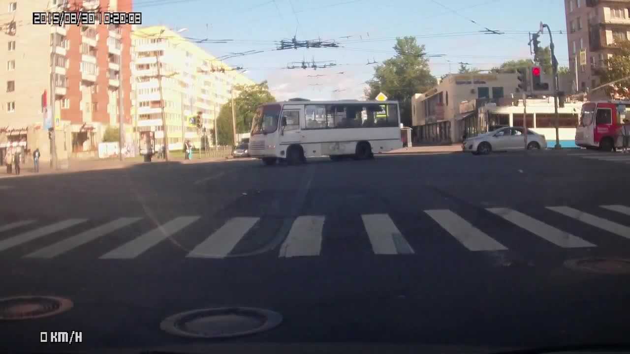 nononono, Driver cuts in front of turning lane and ends up being hit (reddit) GIFs