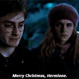 christmas, daniel radcliffe, emma watson, happy christmas, happy holidays, holiday, merry christmas, xmas, Merry Christmas. GIFs