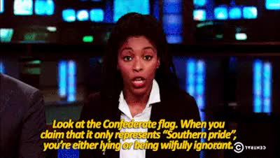 Watch G GIF on Gfycat. Discover more america, black lives matter, charleston, comedy central, confederate flag, human right, jessica williams, race relations, racism, states, usa GIFs on Gfycat