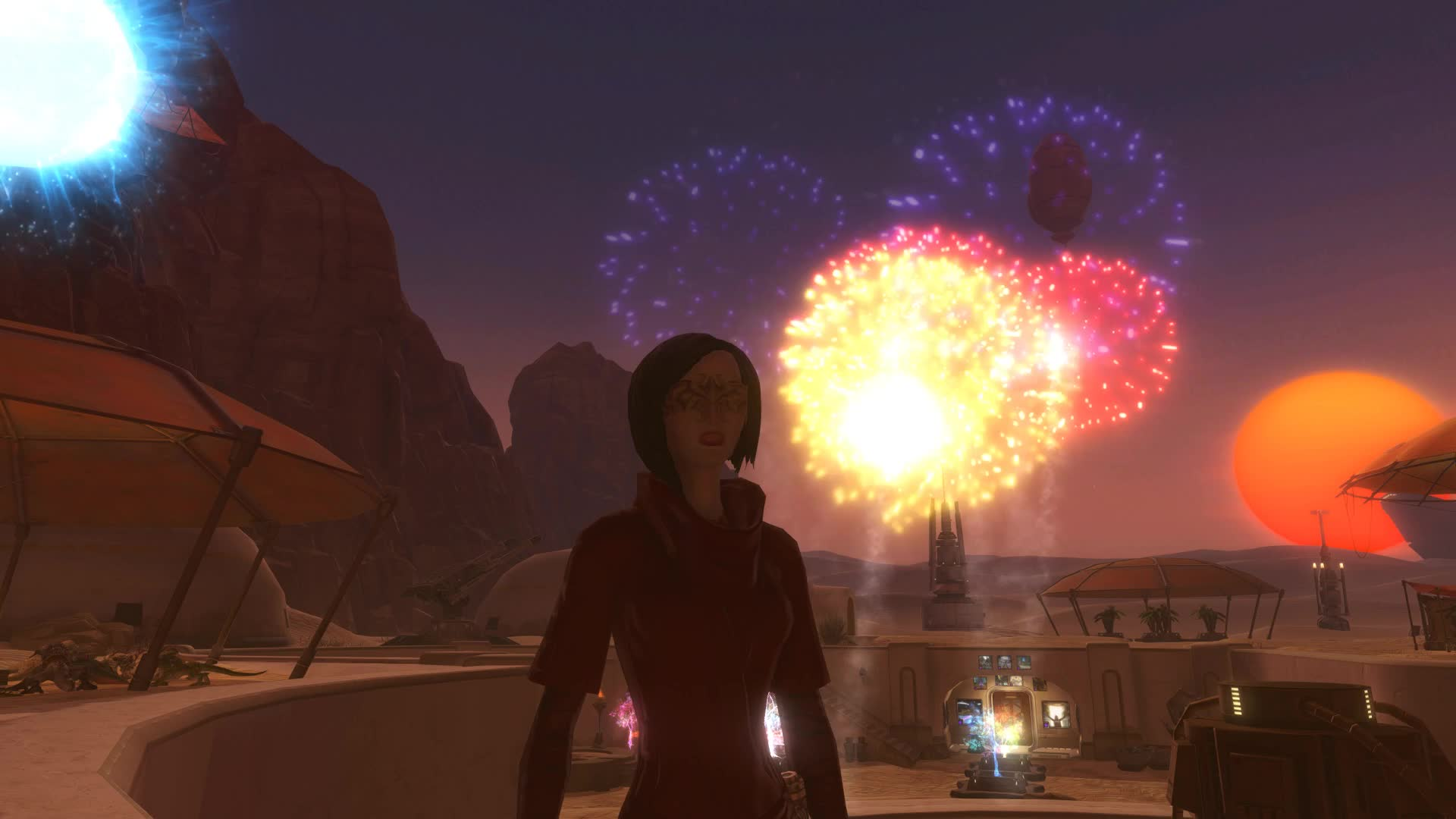 fireworks, mmo, mmorpg, new years, star wars, star wars the old republic, swtor, tatooine, the old republic, tor, SWTOR New Year's Eve GIFs