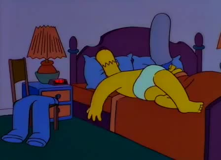 best, english, funny, homer, ingles, moments, phrases, simpsons, sleep, wake up, zzz, Homer Simpson - Lousy two legged pants... GIFs