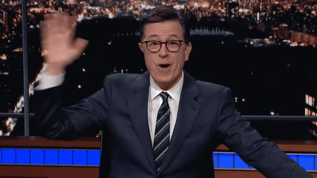 Watch this trending GIF by GIF Queen (@ioanna) on Gfycat. Discover more adios, bye, closing, closure, colbert, cu, farewell, goodbye, hello, hey, hi, see, soon, stephen, there, wave, welcome, you GIFs on Gfycat