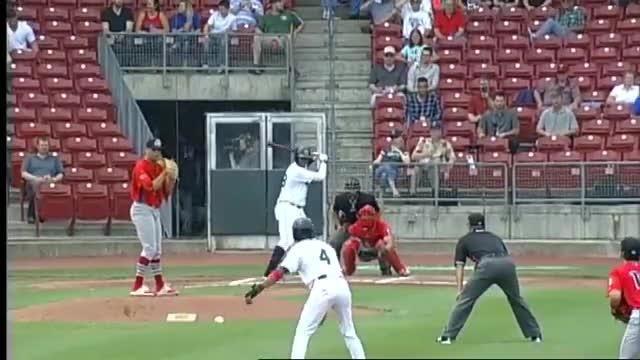Watch Cedar Rapids' Diaz drives two-run homer to right GIF on Gfycat. Discover more Cedar Rapids Kernels, Lewin Diaz, MiLB, Minor League Baseball, Minor Leagues, Minors, Peoria Chiefs, baseball GIFs on Gfycat
