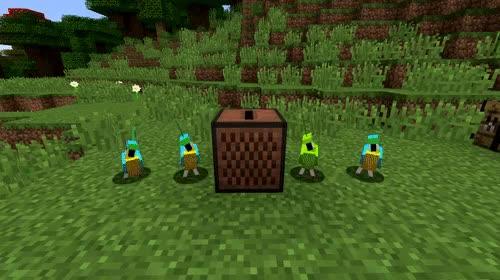 Minecraft Dancing Parrots Gif Gfycat