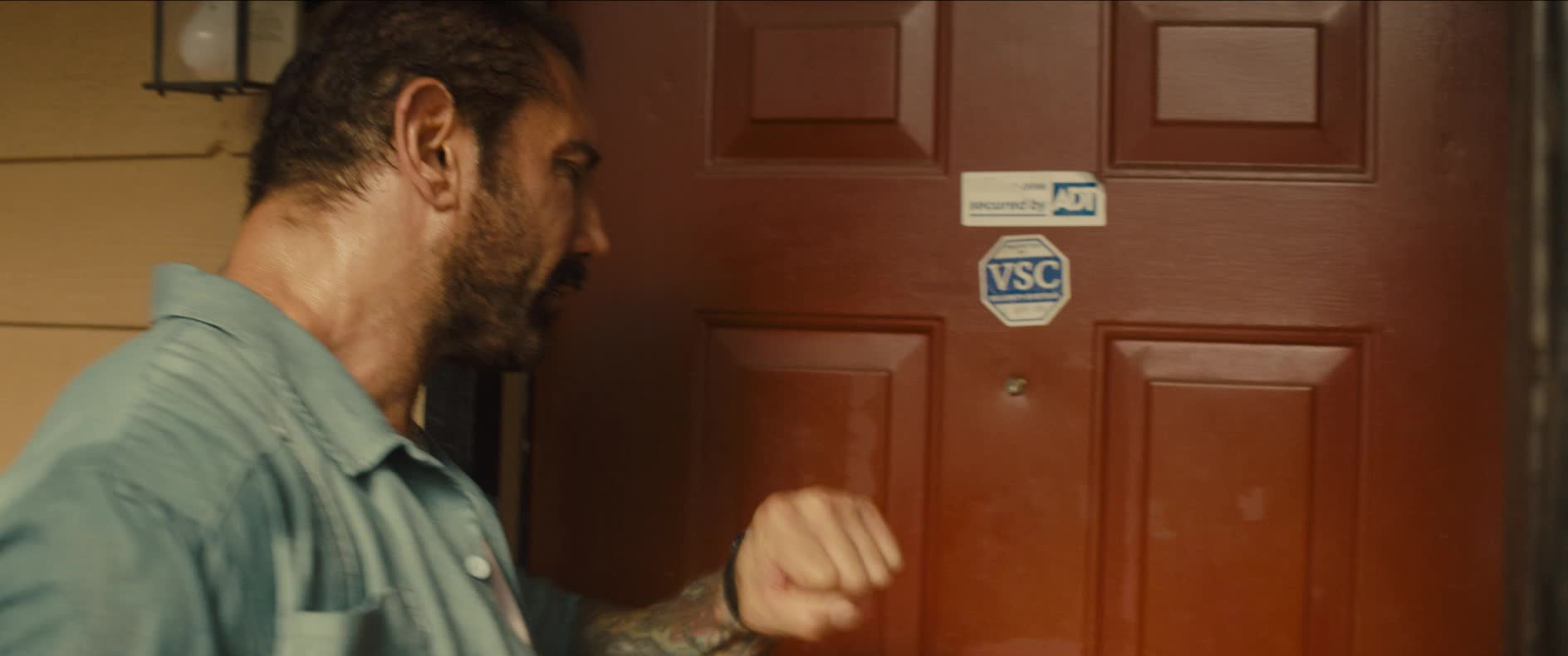 dave bautista, hello, hey, knock, knocking, stuber, stuber movie, Dave Bautista Knock Knock GIFs