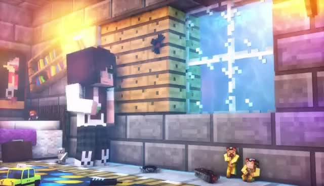lol, minecraft4meh, skydoesminecraft, spider, spiders? GIFs