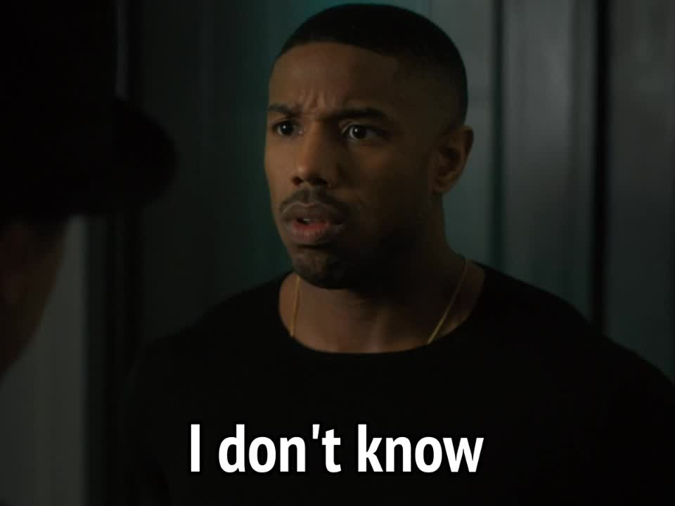celebs, clueless, creed 2, don't know, dunnow, i don't know, i dont know, idk, michael b jordan, michael b. jordan, puzzled, Creed 2 - I don't know GIFs