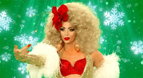 alyssa, celebrate, christmas, dance, dancing, drag, party, paul, queen, ru, rupaul, Ru'paul xmas GIFs