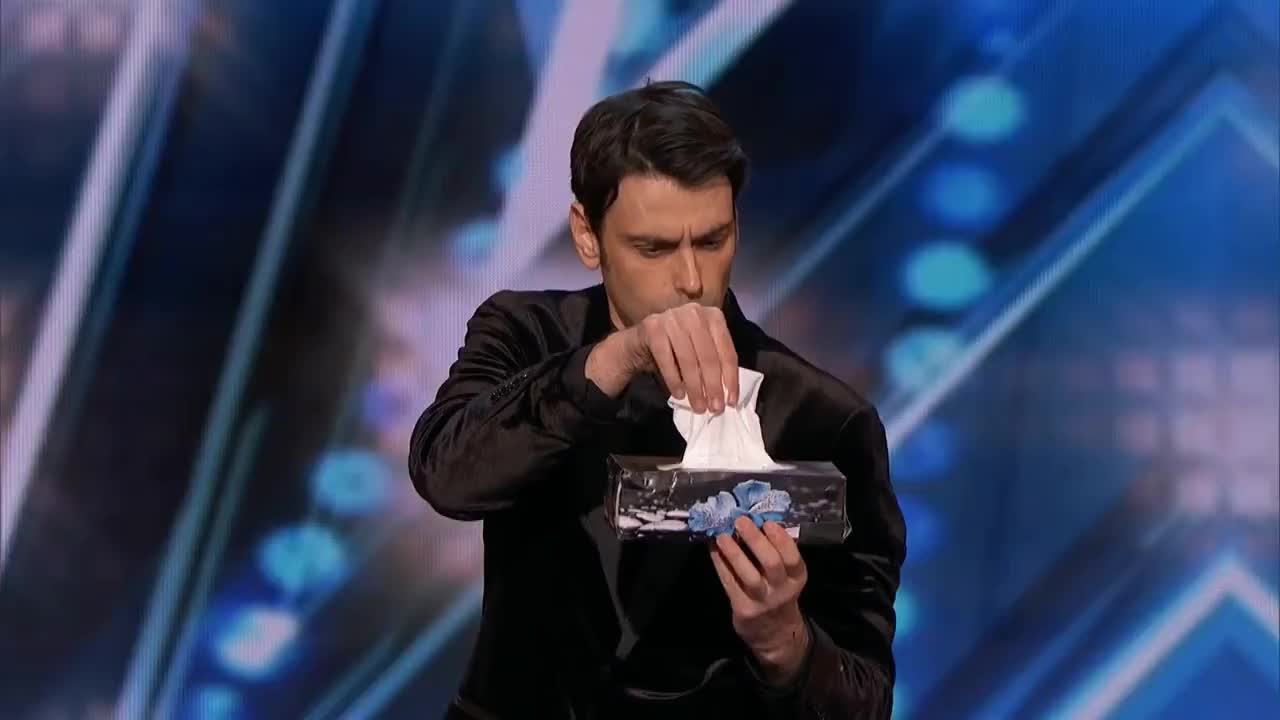 AGT, America, Highlights, NBC, agt, america, clips, competition, entertainment, funny, got, highlights, judge, magic, magic trick, magic wand, magical, nbc, previews, talent, tv, vote, wizard, Tissue Magic GIFs
