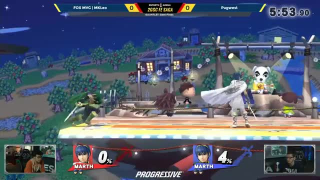 2GGC: FE Saga - FOX MVG | MkLeo (Marth) Vs. Pugwest (Marth) - Gauntlet Winners Semis