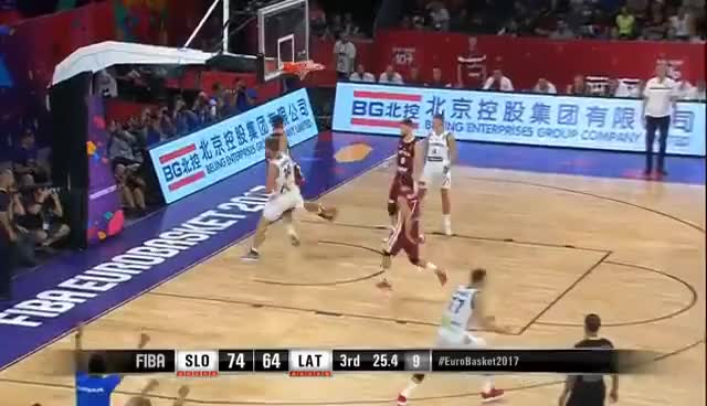 Watch Slovenia v Latvia - Highlights - Quarter-Final - FIBA EuroBasket 2017 GIF on Gfycat. Discover more related GIFs on Gfycat