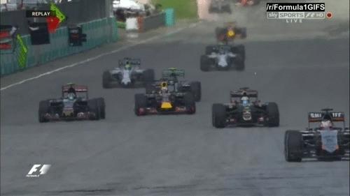 formula1gifs, Sainz & Rosberg pass Ricciardo - Malaysia 2015 (reddit) GIFs