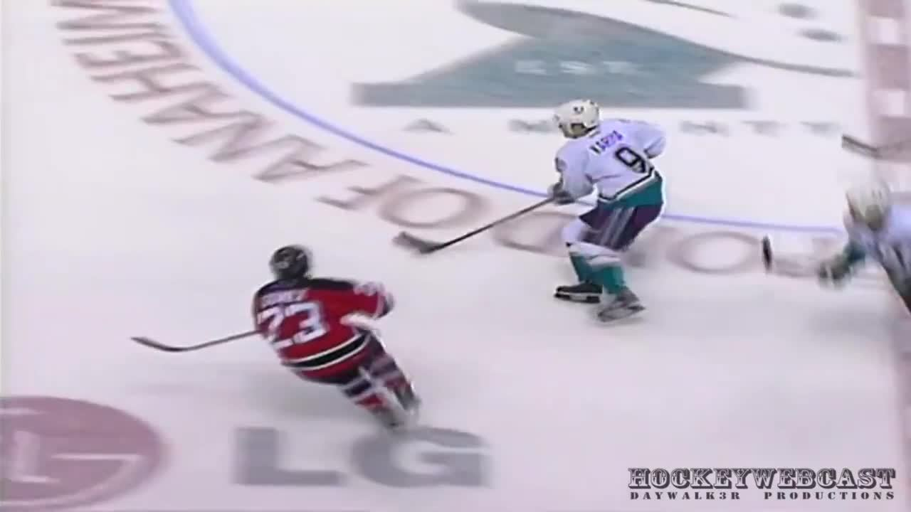 HereComesTheBoom, herecomestheboom, Paul Kariya gets knocked out, wakes up later on ice (reddit) GIFs