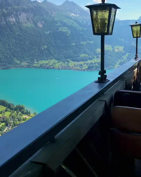 Watch and share View From Restaurant In Switzerland GIFs by vani  on Gfycat