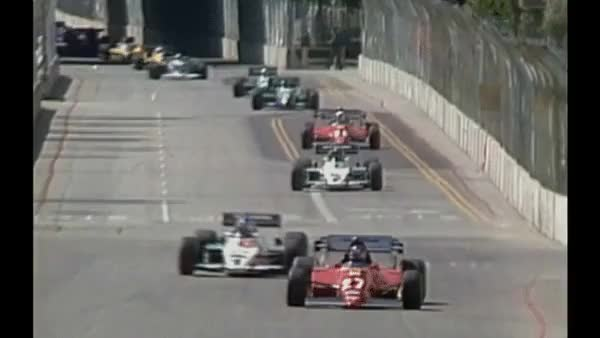 Watch Keke Rosberg does a 360 spin and carries on - Long Beach 1983. (reddit) GIF on Gfycat. Discover more formula1gifs GIFs on Gfycat