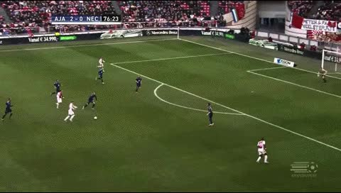 Watch and share Viktor Fischer. Ajax - NEC. 2012-13 GIFs by fatalali on Gfycat