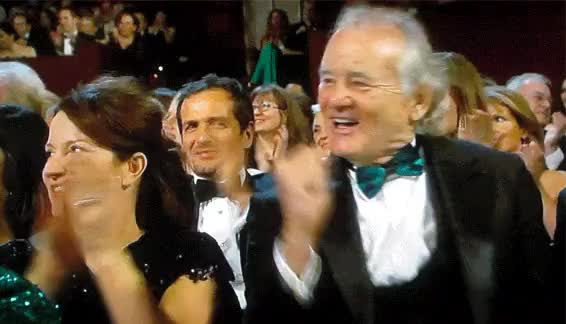Watch and share Bill Murray GIFs and Cheering GIFs on Gfycat