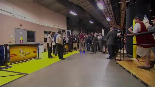 Watch Hoverboard GIF on Gfycat. Discover more Cavaliers, Cleveland, J.R. Smith, amazing, arrive, ball, basket, basketball, big, finals, game 4, highlights, hoop, motor, nba, pregame, scooter, skate, sports GIFs on Gfycat