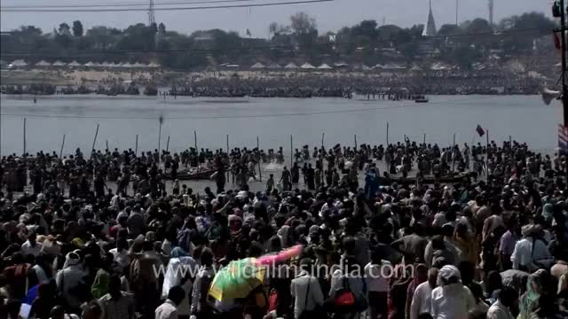 Watch and share Crowds Mill Around The Kumbh Mela Site: Allahabad On Maha Shivratri Day! GIFs on Gfycat