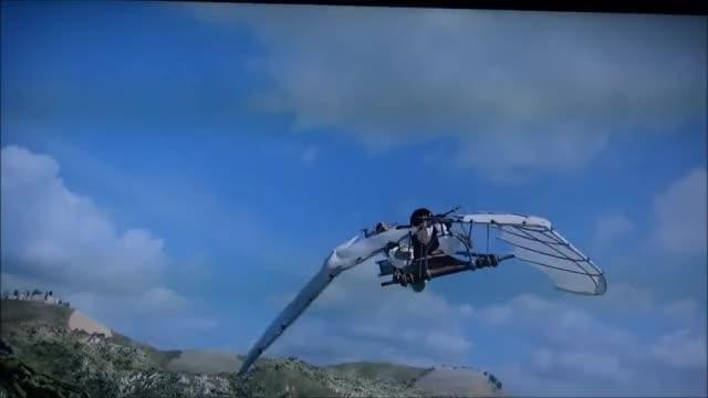 Watch and share Leonardo Da Vinci GIFs and Hang Gliding GIFs on Gfycat