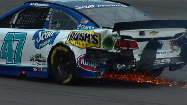 Watch and share Danica Patrick: Slammed Hard Into The Wall Early GIFs on Gfycat