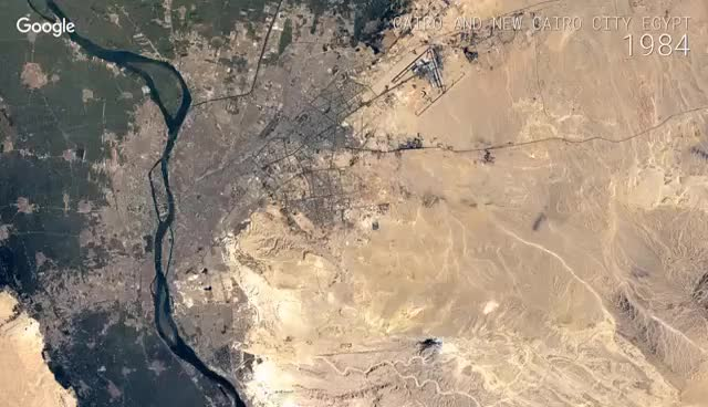 Watch and share Google Timelapse: Cairo And New Cairo City, Egypt GIFs on Gfycat