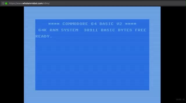 Watch C64 READY GIF by Impresaria (@impresaria) on Gfycat. Discover more C64, GIF Brewery, Mr. Robot, land of ecodelia GIFs on Gfycat