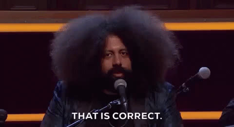 check mark, correct, reggie watts, That is correct GIFs