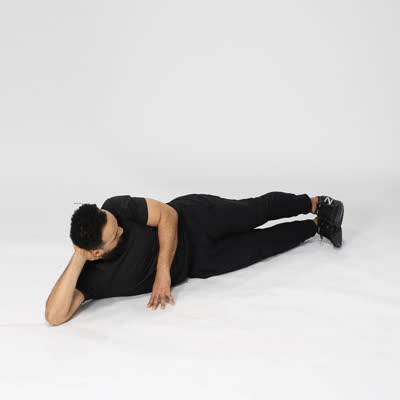 exercise, healthline, work out, 400x400 6 Butt and Thigh Exercises Reclining Side Leg Exercises GIFs