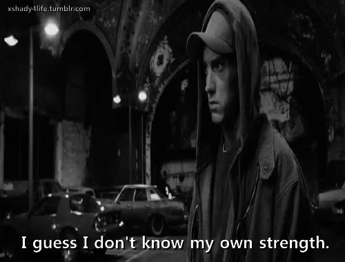 Watch and share Strenght GIFs and Eminem GIFs on Gfycat