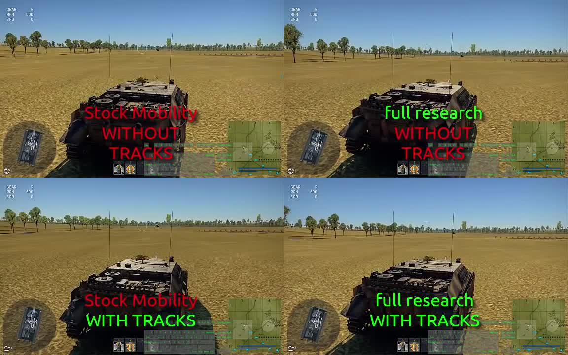 Reference Channel, Video Games, ZdrytchX, comparison, discordapp, track upgrades, tracks, war thunder, [WT Trivia] How much of a difference track upgrades make (with side-by-side comparisons at the end) GIFs