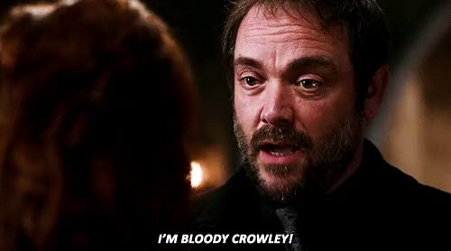 Watch Crowley | Supernatural (gif) GIF on Gfycat. Discover more mark a. sheppard GIFs on Gfycat