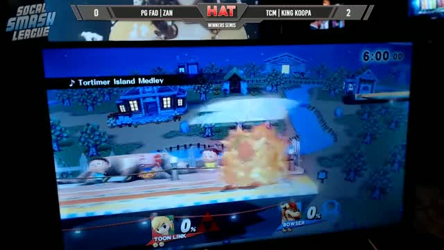 HAT 26 - PG FAD | Zan (Toon Link) Vs. TCM | King Koopa (Bowser) Winners Semis - Smash 4