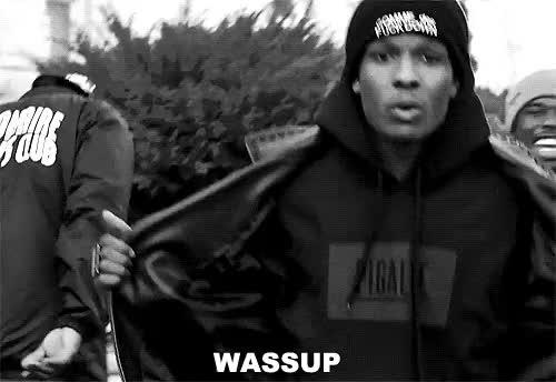 Watch this GIF on Gfycat. Discover more b&w, hehe, lil, nigga, wassup GIFs on Gfycat