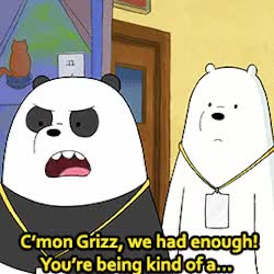 Watch and share We Bare Bears GIFs and Im So Sorry GIFs on Gfycat