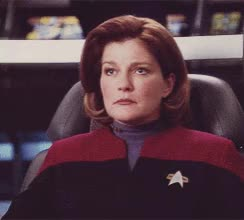 Watch and share Star Trek Voyager GIFs and Kate Mulgrew GIFs by Star Trek gifs on Gfycat