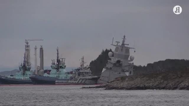 Watch and share Fregatten «Helge Ingstad» Er I Ferd Med Å Haverere - Aftenpo GIFs on Gfycat