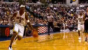 Watch this trending GIF on Gfycat. Discover more 031403, 2000s, 200203, Al Harrington, Basketball, Dunk, Indiana Pacers, Jermaine O'Neal, NBA, Oop, giff GIFs on Gfycat