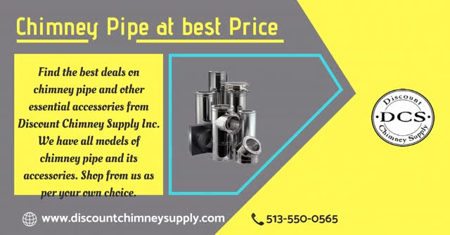 Buy best quality Chimney pipe from Discount Chimney Supply Inc , USA