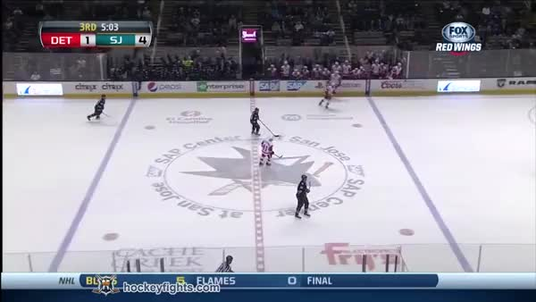 Watch Kyle Quincey vs Tyler Kennedy January 9th, 2014 (reddit) GIF on Gfycat. Discover more detroitredwings GIFs on Gfycat