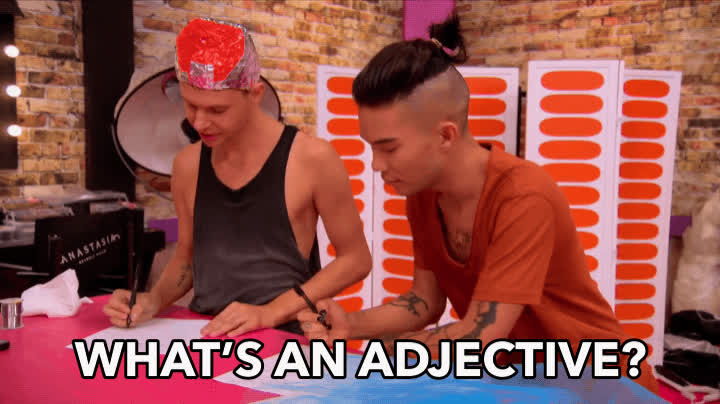 adjective, all stars 3, drag, drag queen, drag race, dumb, queen, rupaul, What's An Adjective? GIFs