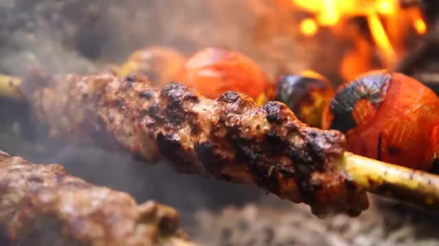Watch Best Shish Kebab! - 4K Cooking You Won't Believe! GIF on Gfycat. Discover more ASMR, Campfire, Fire, Meditation, Recipe, almazankitchen, best, camping, cooking, food, kebab, knife, recept, relax, relaxing, therapy GIFs on Gfycat