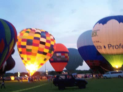 Watch and share Animated Gif Of Hot Air Balloons Glowing GIFs on Gfycat