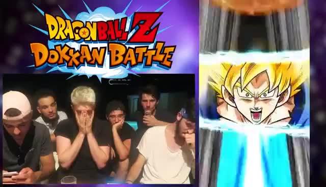 Invocation Dokkan Battle Gogeta Ssj4 Et Omega Shenron Part2 Gif