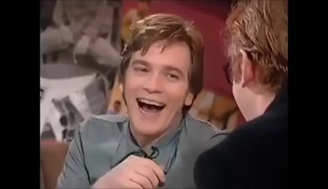 Watch and share Ewan McGregor Interview (1996) GIFs on Gfycat