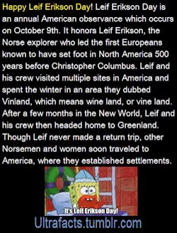 Watch and share Fact Leif Erikson Day Leif Erikson Ultrafacts GIFs on Gfycat